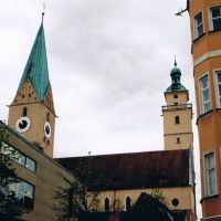 Ingolstadt, Moritzkirche und Pfeifenturm, Ингольштадт