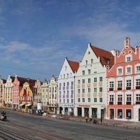Am Dreifaltigkeitsplatz, Blick Richtung Münchner Tor, Landshut, Ландсхут