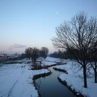 Mond über der Pfettrach, Ландсхут