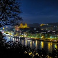 Passau: Stadtpanorama-03 (Donauseite), Пасау
