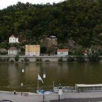 Passau, Panorama vom Schiffsanlegeplatz, Пасау