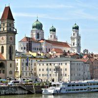 Passau,  Dreiflüssestadt,  Juni  2014, Пасау