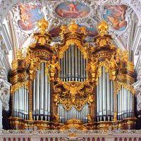 Passau - Dom St. Stephan, Teil der größten Kirchenorgel der Welt, Пасау