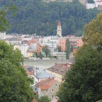 Blick vom Mariahilfberg, Пасау