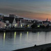 Sonnenuntergang an der Donau - Dunai alkony, Регенсбург