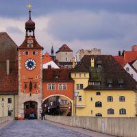 Regensburg from Steinerne Brucke, Регенсбург