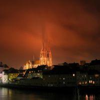 Regensburg - dramatic night, Регенсбург
