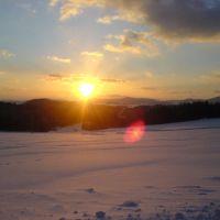 Sonnenuntergang im Winter, Фурт