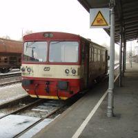 Tschechischer Triebwagen im Bahnhof Furth im Wald, Фурт