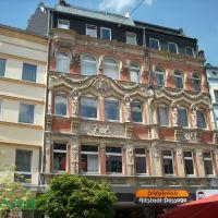 Schöne Hausfassade an der Altstadt-Passage in Hof, Хоф