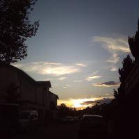 Sonnenuntergang in Hof, Хоф