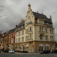 Hof: Häuser in der Bahnhofstraße, Хоф