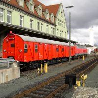 Hof: Hbf. Einheitshilfsgerätewagen der DB AG, Хоф