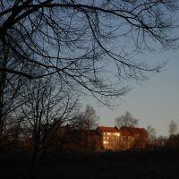 glänzend   - Burg in der Abendsonne, Бургхаузен