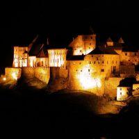 D: Burghausen, Burg bei Nacht, Бургхаузен