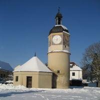 Uhrturm mit Brunnenhäuschen, 6. Burghof, Бургхаузен