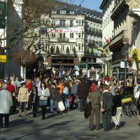 Baden-Baden, Besucherandrang in der Sophienstraße (März 2007), Баден-Баден