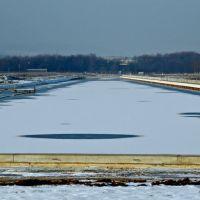 Langer See auf dem Flugfeld mit Plana und Sensapolis, Зинделфинген