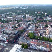 Luftbild Europaplatz, Münze, FH, PH, Hardtwald, Карлсруэ
