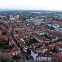 Luftaufnahme Südweststadt und Beiertheimer Feld, Карлсруэ