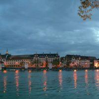 Seerhein von der Seerhein-Terasse aus / Nacht - Pseudo-HDR - Panorama, Констанц