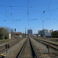 Am Bahnübergang Schneckenburgstraße: Blick gen Osten [03/2007], Констанц