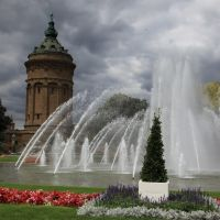 stürmischer Sommertag, Friedrichsplatz Mannheim, Мангейм
