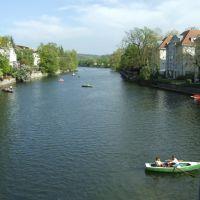 Tübingen, von der Eberhardsbrücke neckarabwärts, Тюбинген