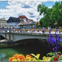 Die reizvolle Neckarbrücke in Tübingen, Тюбинген