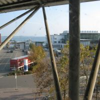 Friedrichshafen - Blick auf den Fähranleger vom Parkhaus, Фридрихсхафен