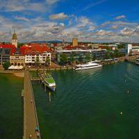 GER Friedrichshafen City & Port [Bodensee] (2 Zeppelins) from Hafen Aussichtsturm Panorama by KWOT ♥♥♥♥♥♥♥♥♥♥, Фридрихсхафен