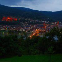 GER Heidelberg City - Schloss - [Neckar] {in the rain/blue hour} from Schlangenweg by KWOT, Хейдельберг