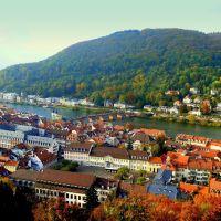 "Vistas de Heidelberg desde el castillo (dedicada a ""mackedwars"" Eduardo), Хейдельберг"