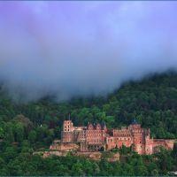 Regenwolke über dem Heidelberger Schloss, Хейдельберг