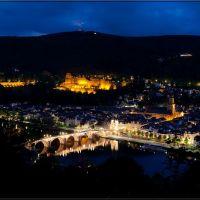 Heidelberg by night (please enlarge), Хейдельберг
