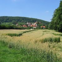 Bebenhausen: Sicht auf Bebenhausen über die Felder, Хейденхейм-ан-дер-Бренц