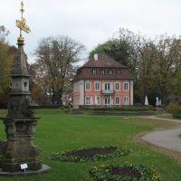Schwäbisch Gmünd: Rokokoschlösschen und historische Sonnenuhr von 1779, Швабиш-Гмунд