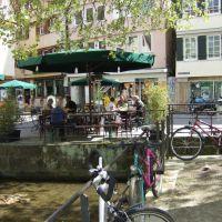Tübingen, Straßencafe am Ammerkanal, Роттвайл