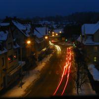 Winter-Night view over Alte Herdstrasse, VS-Villingen, Germany, Филлинген-Швеннинген