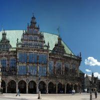 Rathaus und Roland mit St.-Petri-Dom Bremen, UNESCO Weltkulturerbe, Бремен