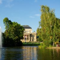 Kurpark and Hesse State Theater. Wiesbaden., Висбаден