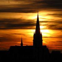 St. Bonifatius-Kirche bei Sonnenuntergang, Gießen, Гиссен