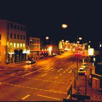 Darmstadt; Südende der Kasinostraße bei Nacht (TR), Дармштадт