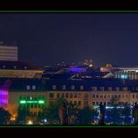 nächtliche Stadtansicht mit Laser, Кассель