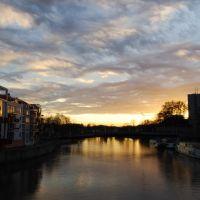 Die Fulda bei Sonnenuntergang, Кассель