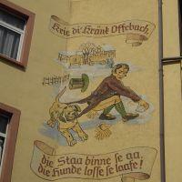 Frankfurter Spruch auf Bürgeler Haus, Оффенбах