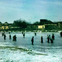 Remember, vor 67 Jahren. Offenbach, Schickedanzweiher im Winter, Оффенбах