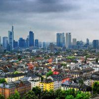 La Skyline vista desde el Nordeste, Франкфурт-на-Майне