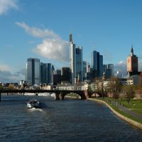 Germany, Frankfurt - Downtown & Main River, Франкфурт-на-Майне