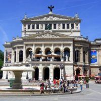 Frankfurt, Alte Oper und Lucae-Brunnen, Франкфурт-на-Майне